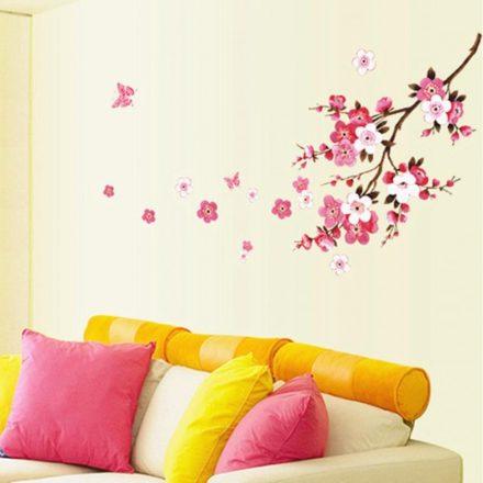 Cseresznyevirágos ág, virágos falmatrica a Dekoráció Webáruházban