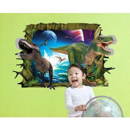 Faltörő dínók, falmatrica a Dekoráció Webáruházban