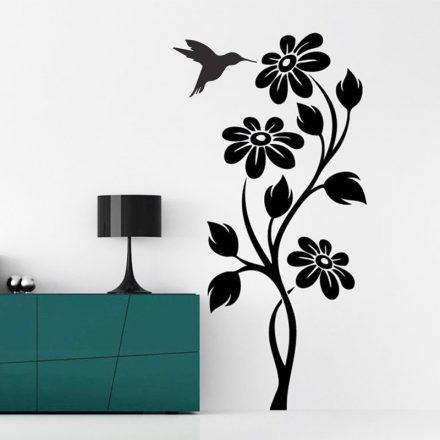 Kecses virág kolibrivel