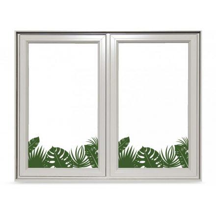 Trópusi növények színes ablakmatrica