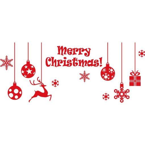 Karácsonyi díszek, kirakatmatrica