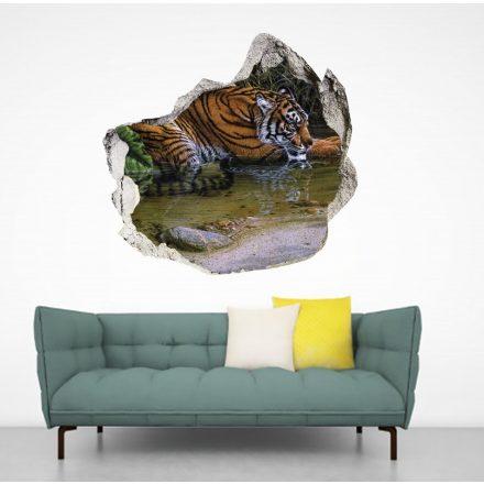 Szomjas tigris, faltörő falmatrica a Dekoráció Webáruház termékei között