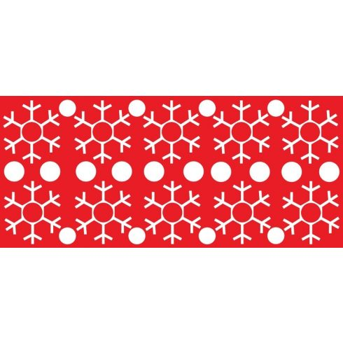 Hópelyhek, téli matrica kirakatra a Dekoráció Webáruházban