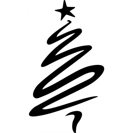 Modern karácsonyfa, karácsonyi matrica kirakatra a Dekoráció Webáruházban