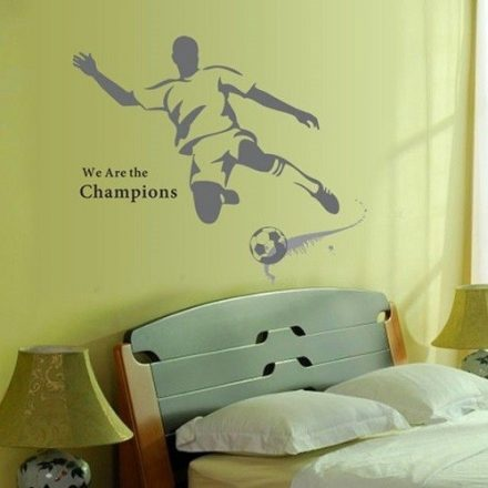 Mi vagyunk a bajnokok, focis falmatrica a Dekoráció Webáruházban
