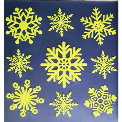 A Mikulás kisvonata, karácsonyi ablakmatrica a Dekoráció Webáruházban