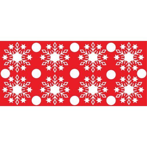 Hópelyhek2, karácsonyi matrica kirakatra a Dekoráció Webáruházban