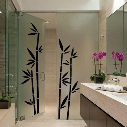 Bambuszok, ajtómatrica