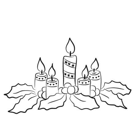 Gyertyák, karácsonyi matrica kirakatra a Dekoráció Webáruházban