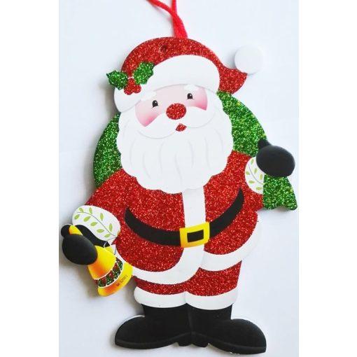 Mikulás, karácsonyi ajtódekor a Dekoráció Webáruházban