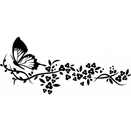 Pillangó virágfüzérrel