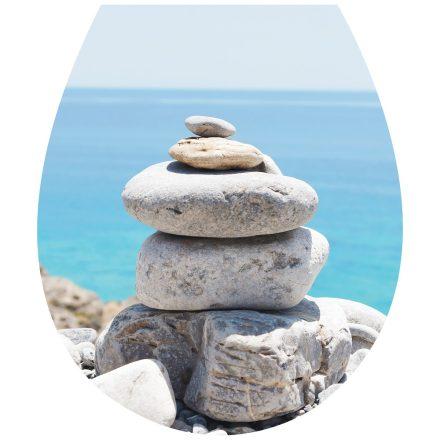 Kőhalom, toalett díszítő matrica - Dekoráció Webáruház