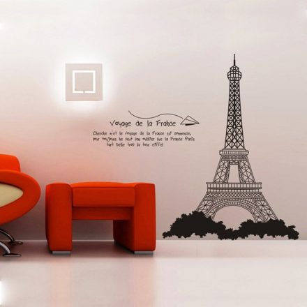 Eiffel torony falmatrica, fekete2