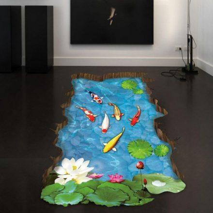 Halastó, 3D padlómatrica a Dekoráció Webáruházban