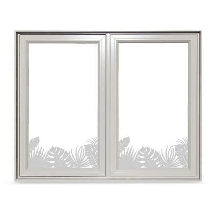 Trópusi növények ablakmatrica