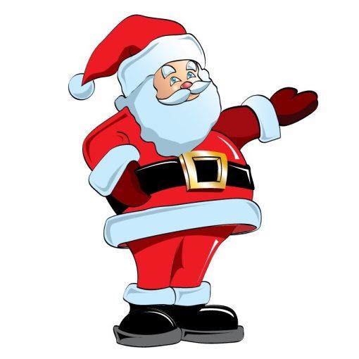 Színes télapó, karácsonyi matrica kirakatra a Dekoráció Webáruházban