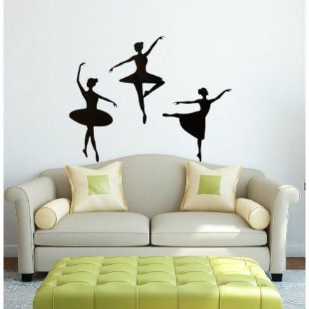 Táncoló balerinák, falmatrica a Dekoráció Webáruházban