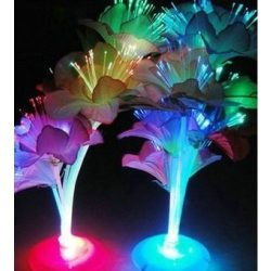 Virágos LED dekorlámpa