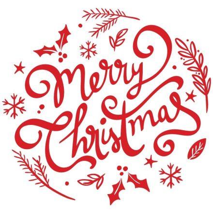 Boldog Karácsonyt, zselés ablakmatrica a Dekoráció Webáruházban