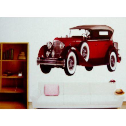 Piros autó, 3D falmatrica