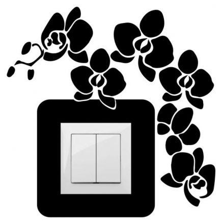 Virágok, villanykapcsoló matrica