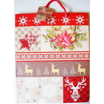 Karácsonykor, karácsonyi ajándéktáska. L méret