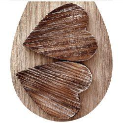 Fa szívek, toalett díszítő matrica - Dekoráció Webáruház