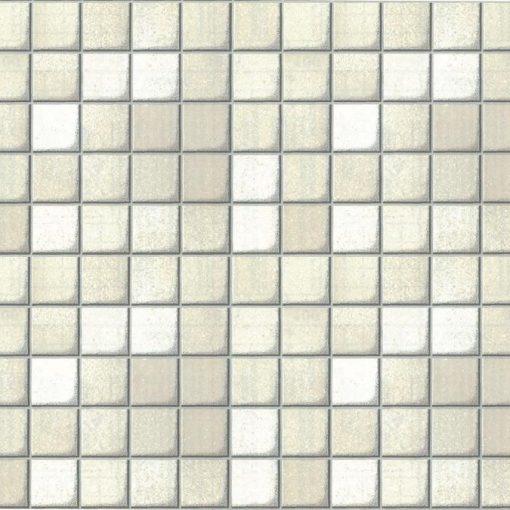 Fehér mozaik - ezüst fuga mintás 3D öntapadós tapéta a Dekoráció Webáruházban