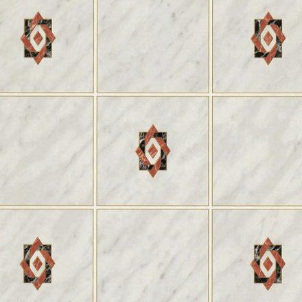 Csempeminta bordó betéttel, öntapadós tapéta a Dekoráció Webáruházban