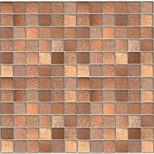 Barna mozaik - ezüst fuga mintás 3D öntapadós tapéta a Dekoráció Webáruházban
