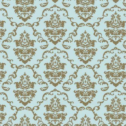 Arany-kék barokk mintás öntapadós tapéta a Dekoráció Webáruházban