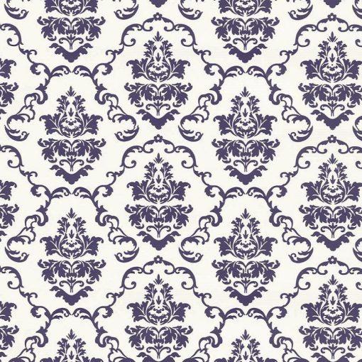 Fehér-kék barokk mintás öntapadós tapéta a Dekoráció Webáruházban