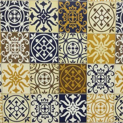 Mediterrán csempemintás öntapadós tapéta a Dekoráció Webáruházban