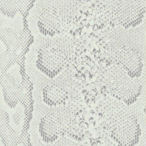 Ezüstös fehér kígyóbőr mintás öntapadós tapéta a Dekoráció Webáruházban