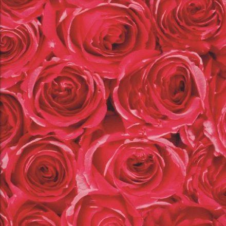 Piros rózsa mintás öntapadós tapéta a Dekoráció Webáruházban