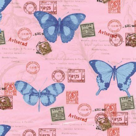 Pillangó mintás öntapadós tapéta a Dekoráció Webáruházban