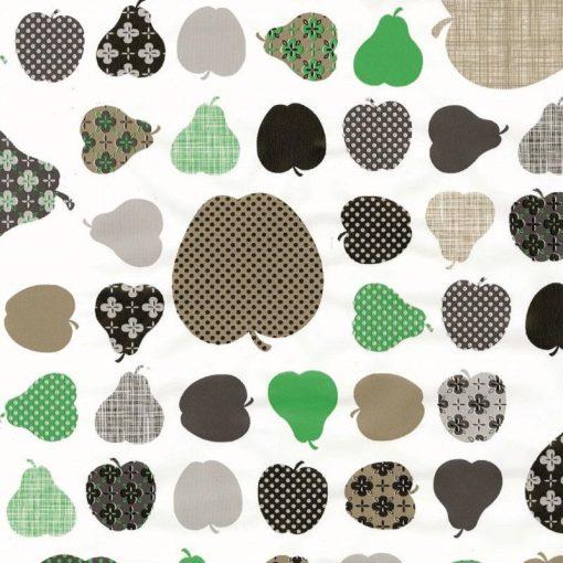 Zöld alma és körte mintás öntapadós tapéta a Dekoráció Webáruházban