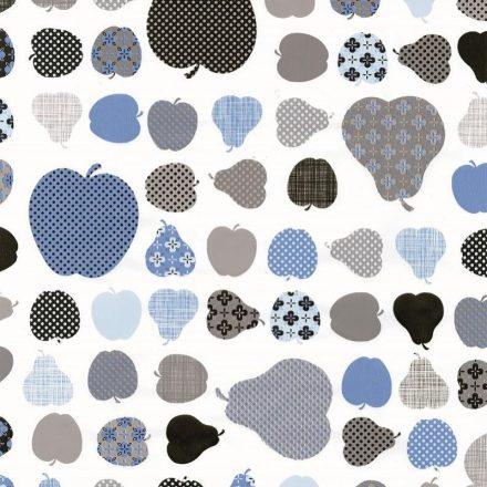 Kék alma és körte mintás öntapadós tapéta a Dekoráció Webáruházban