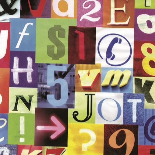 Színes betű mintás öntapadós tapéta a Dekoráció Webáruházban