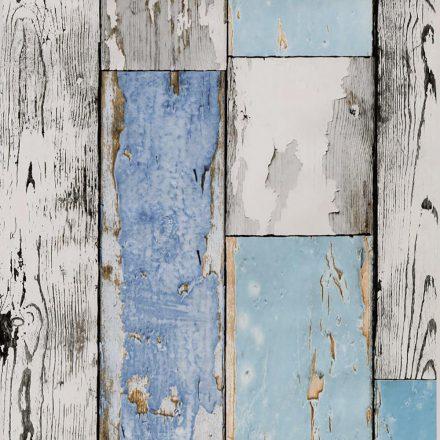 Kék kopott deszka mintás öntapadós tapéta a Dekoráció Webáruházban