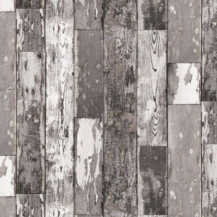 Sötét kopott deszka mintás öntapadós tapéta a Dekoráció Webáruházban