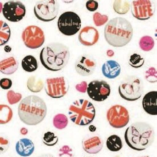 Buttons mintás öntapadós tapéta a Dekoráció Webáruházban