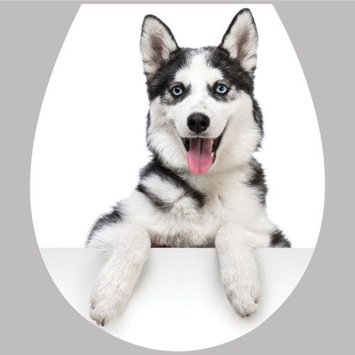 Husky, 3D toalett díszítő matrica - Dekoráció Webáruház