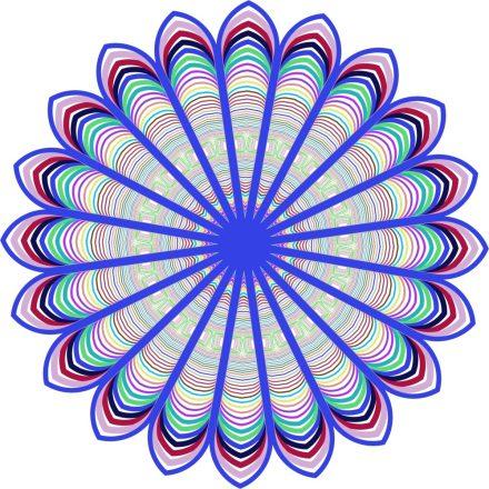 Prizma, mandala falmatrica a Dekoráció Webáruházban