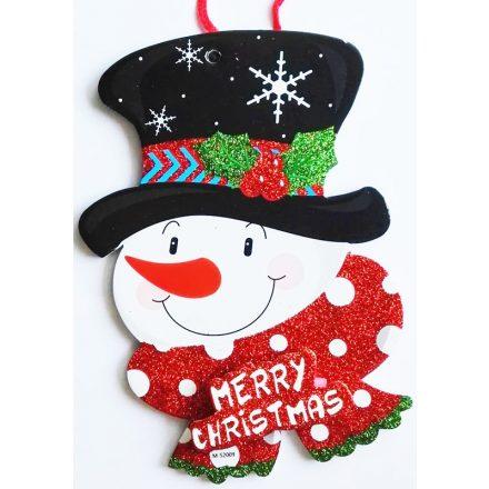 Hóember, karácsonyi ajtódekor a Dekoráció Webáruházban