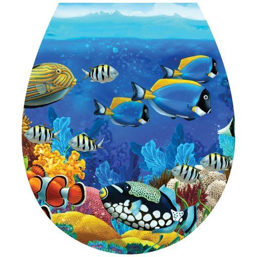 Színes halak, toalett díszítő matrica - Dekoráció Webáruház