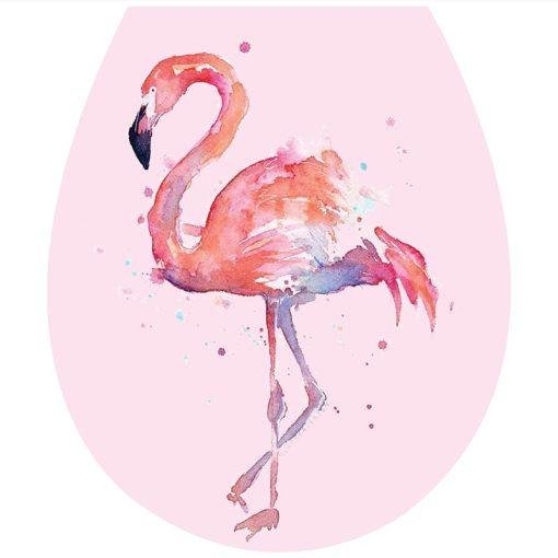Flamingó, toalett díszítő matrica - Dekoráció Webáruház