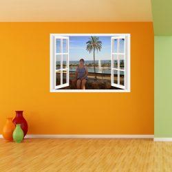 Egyedi ablakos falmatrica saját képből a Dekoráció Webáruházban