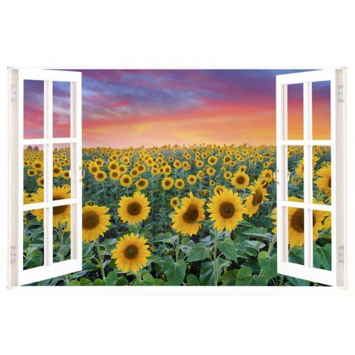 Napraforgók, ablakos falmatrica - Dekoráció Webáruház