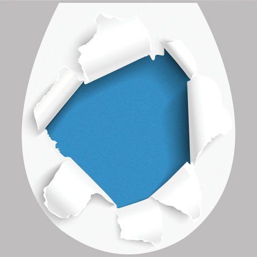 Szakadt papír, 3D toalett díszítő matrica - Dekoráció Webáruház